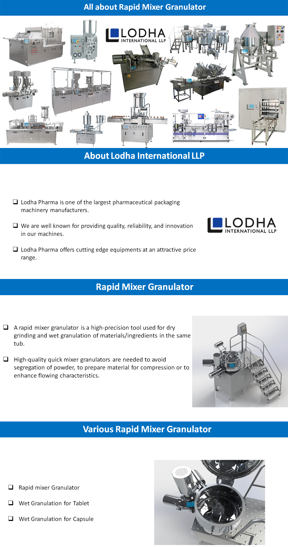 All about Rapid Mixer Granulator