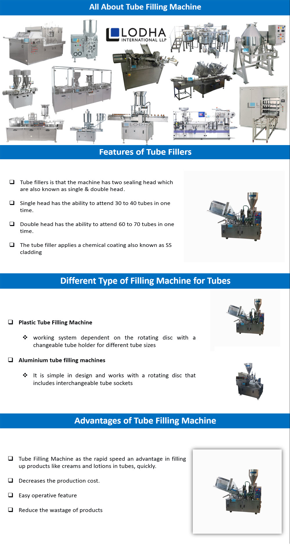 All about Tube Filling Machine