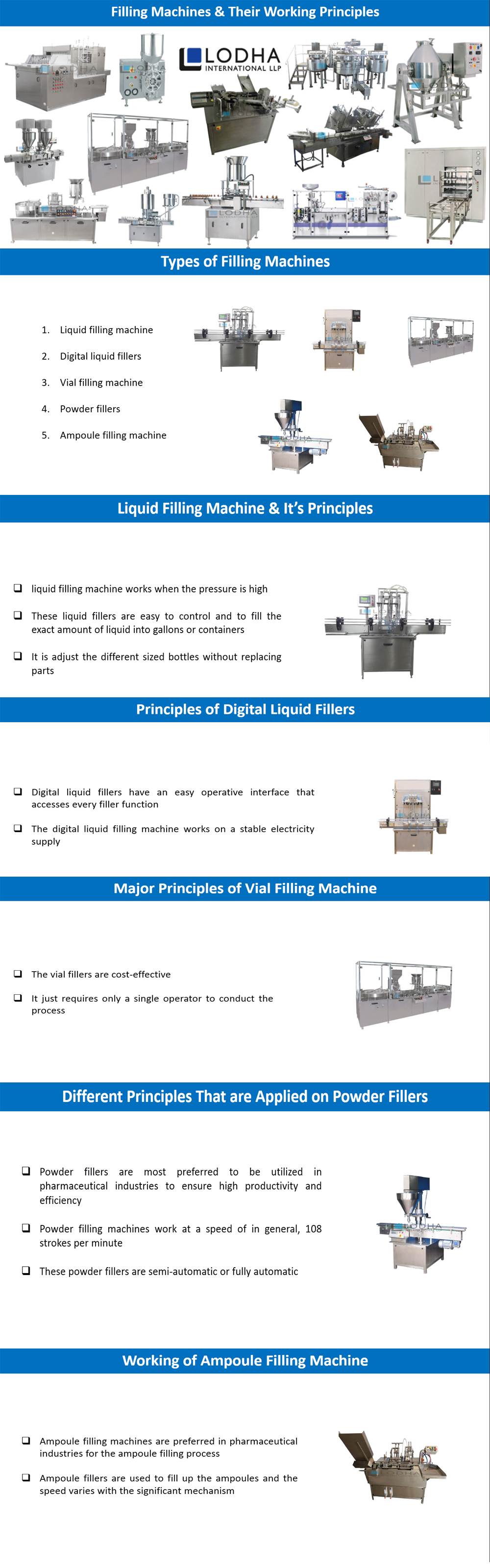 Filling Machines & Their Working Principles