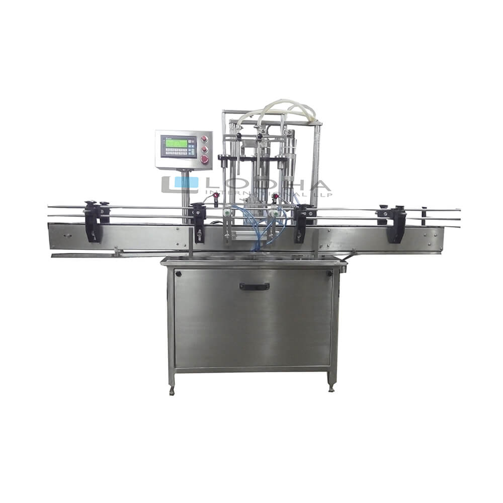 Automatic Two Head Volumetric Liquid Filling Machine
