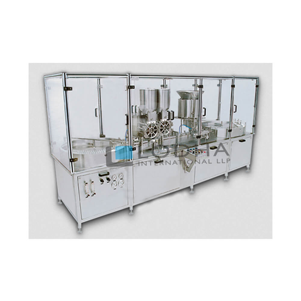 Double Track Injectable Powder Filling Machine with Rubber Stoppering