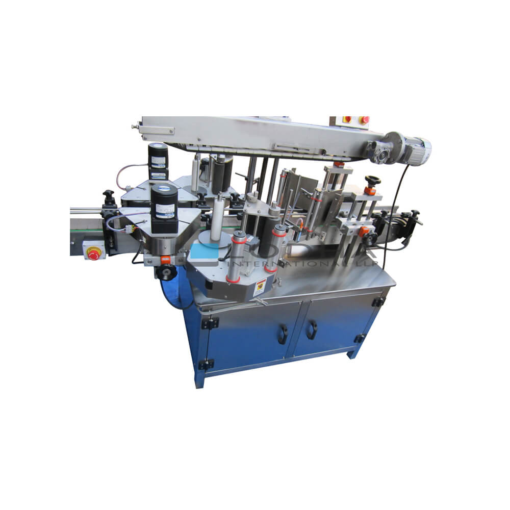 Automatic Double Side Flat Bottle Sticker Labeling Machine